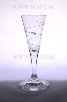 Cikáčik 30 ml špirála (Transparent) - sklo zdobené s crystals from Swarovski®