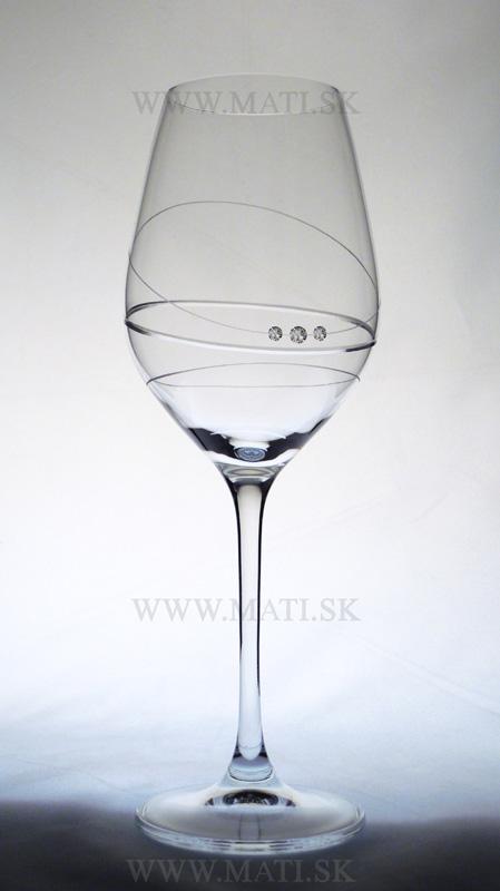 Kalich 360 ml prstenec (Transparent) - sklo zdobené s crystals from Swarovski®