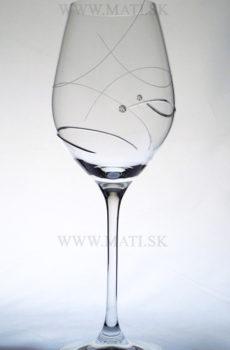 Kalich 360 ml úsmev (Transparent) - sklo zdobené s crystals from Swarovski®