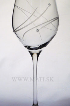 Kalich 360 ml atóm (Transparent) - sklo zdobené s crystals from Swarovski®