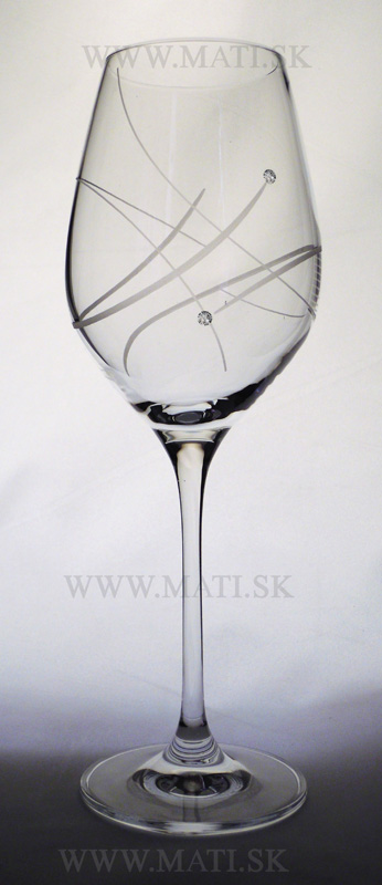 Kalich 360 ml atóm (Transparent) - sklo zdobené s crystals from Swarovski®