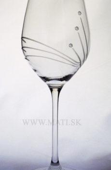 Kalich 360 ml paprsky (Transparent) - sklo zdobené s crystals from Swarovski®