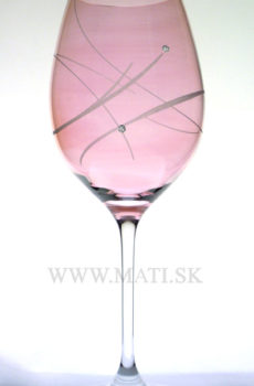 Kalich 470 ml (Rose) - sklo zdobené s crystals from Swarovski®