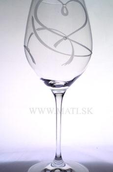 Kalich 470 ml srdce I. (Transparent) - sklo zdobené s crystals from Swarovski®