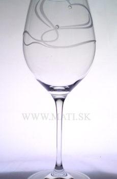 Kalich 470 ml srdce II. (Transparent) - sklo zdobené s crystals from Swarovski®