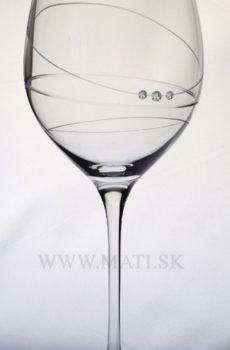 Kalich 470 ml prstenec (Transparent) - sklo zdobené s crystals from Swarovski®