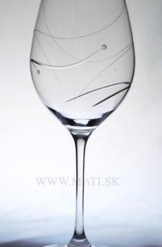 Kalich 470 ml úsmev (Transparent) - sklo zdobené s crystals from Swarovski®