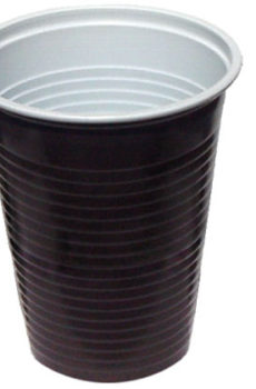 Kávový pohár hnedo-biely (PP)