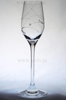 Likérka 95ml úsmev (Transparent) - sklo zdobené s crystals from Swarovski®