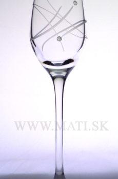 Likérka 95ml atóm (Transparent) - sklo zdobené s crystals from Swarovski®