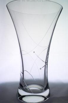 Váza 250mm úsmev (Transparent) - sklo zdobené s crystals from Swarovski®